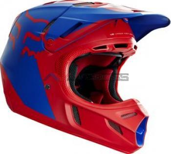 casco V4 libra BLUE-RED