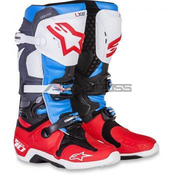 Stivali Alpinestar Tech 10 red-antracite-white