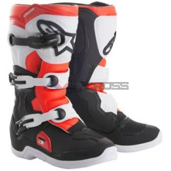 Stivali Tech 3s Youth black-white-red fluo