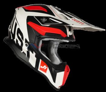 Casco Just1 J18 Virtual Fluo Red-White