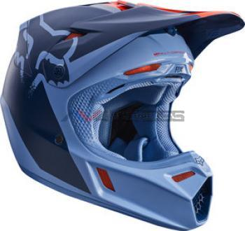 Casco Fox V3 Libra Orange-blue