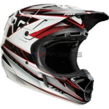 Casco fox V4 Race Black-Red