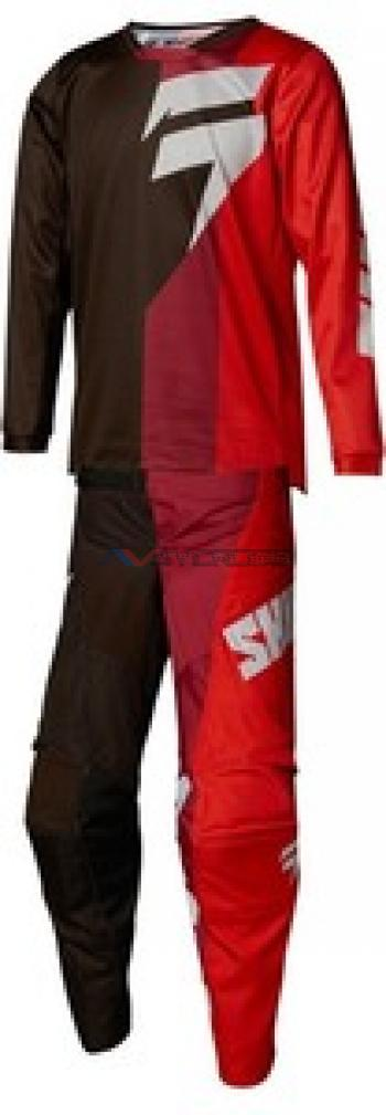 Completo Shift Youth White Tarmac Black-Red