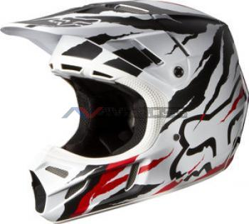 Casco Fox V4 Forzaken Red-White