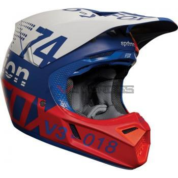 Casco Fox V3 Draftr 2018 Blue