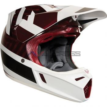 Casco Fox V3 Preest 2018 Dark-Red