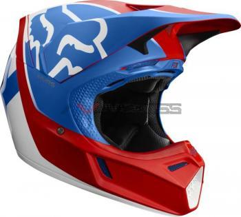 Casco Fox 2019V3 Kila Blue-Red