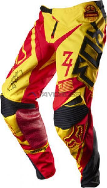 Pantaloni Fox 360 MXON Intake Black-Yellow