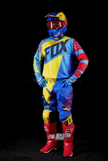 Completo Fox 180 Vandal Yellow-Blue