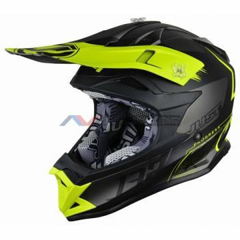 Casco Just1 J32 Pro Kick Yellow-Black-Titanium