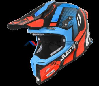 Casco Just1 J12 Vector Orange-Blue-Carbon